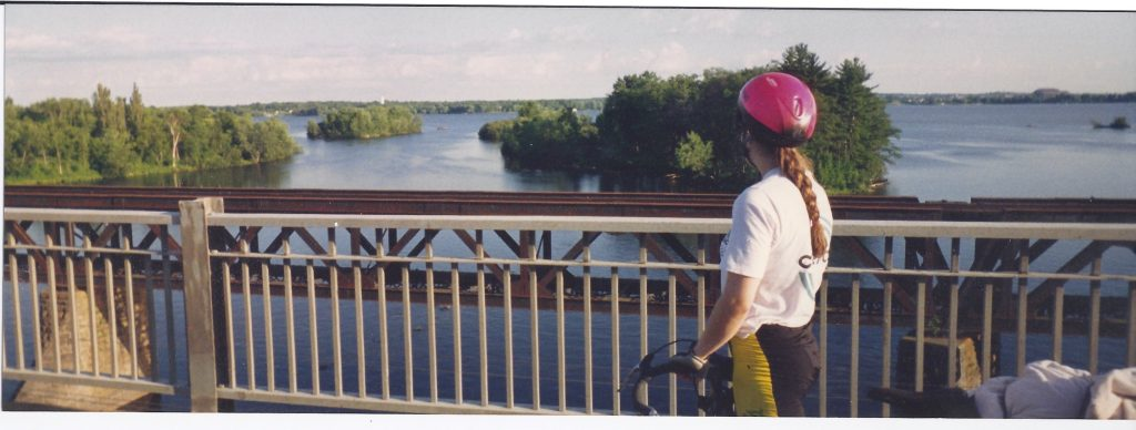 Riding our bicycles from Toronto Ont. to Quebec City.